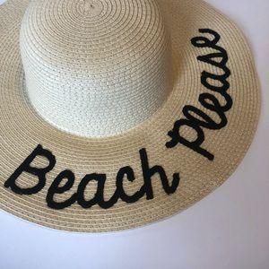 Accessories - NWOT Floppy Beach Sun Hat - Beach Please Script